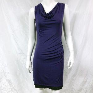ATHLETA Reversible Inverse Cowl Neck Jersey Dress